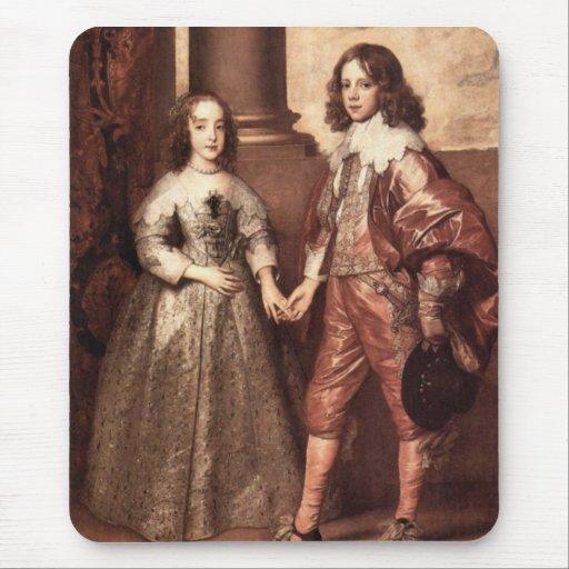 Guillermo del naranja con su novia futura - Van Dy Tapetes De Ratones