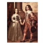 Guillermo del naranja con su novia futura - Van Dy Tarjetas Postales