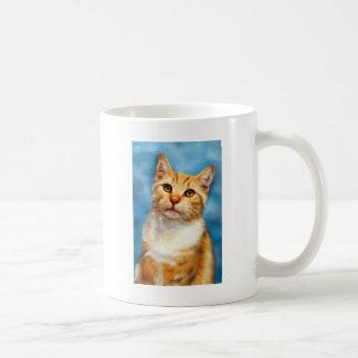 Guillermo dulce - arte anaranjado del gato de Tabb Taza