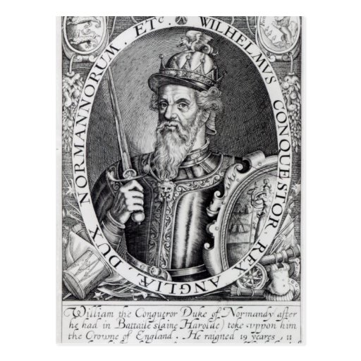 Guillermo el conquistador, 1618 postal