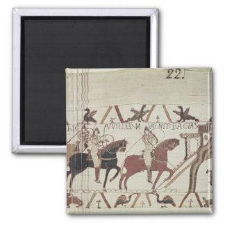 Guillermo el conquistador llega Bayeux Imán Para Frigorífico