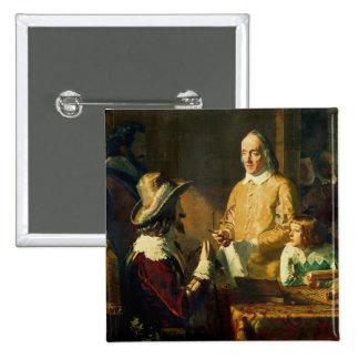 Guillermo Harvey que demuestra a Charles I Pin Cuadrado