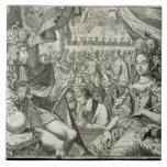 Guillermo III (1650-1702) y reyes de Maria II (166 Azulejo Cuadrado Grande