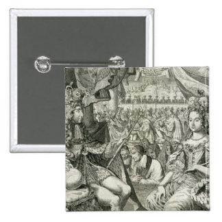 Guillermo III (1650-1702) y reyes de Maria II (166 Pin