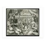 Guillermo III (1650-1702) y reyes de Maria II (166 Tarjeta Postal