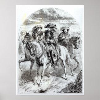 Guillermo III herido en la batalla del Póster