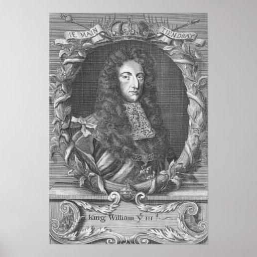 Guillermo III Stadholder y rey de Inglaterra Posters