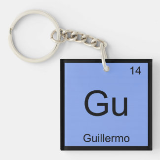 Guillermo  Name Chemistry Element Periodic Table Square Acrylic Keychains