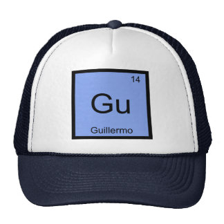 Guillermo  Name Chemistry Element Periodic Table Trucker Hat