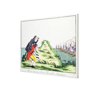 Guillermo Pitt observando la escuadrilla francesa Impresión En Lienzo