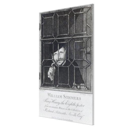Guillermo Sommers, grabado por R. Clamp, 1794 Lona Envuelta Para Galerias
