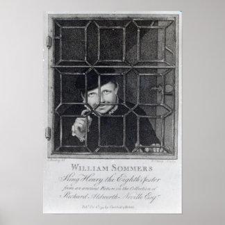 Guillermo Sommers, grabado por R. Clamp, 1794 Póster
