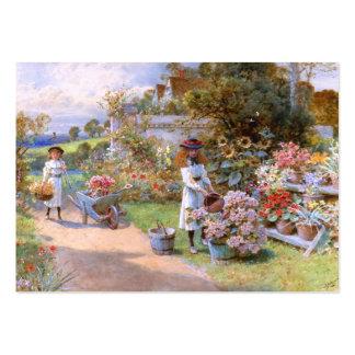 Guillermo Stephen Coleman: El jardín de flores Tarjetas De Visita Grandes