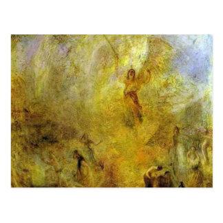 Guillermo Turner el ángel, colocándose en el sol Tarjetas Postales