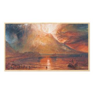 Guillermo Turner Vesuvio en arte del waterscape de Tarjetas Personales