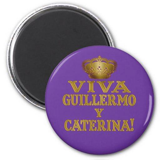 Guillermo y Caterina Boda Real Camisas y Mas 2 Inch Round Magnet