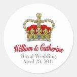 Guillermo y Catherine boda 29 de abril de 2011 Etiqueta Redonda