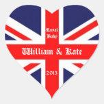 Guillermo y Kate/Bebé-Unión real Jack Pegatina De Corazón