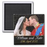 Guillermo y Kate que el boda real se besa Iman De Frigorífico