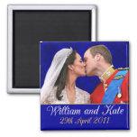 Guillermo y Kate que el boda real se besa Iman Para Frigorífico