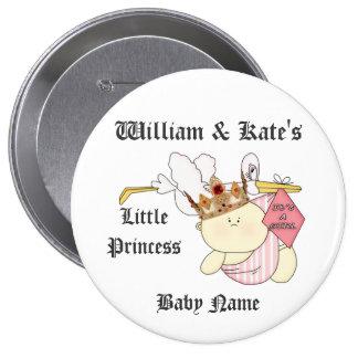 Guillermo y princesa de Kate la pequeña/nuevo bebé Pins