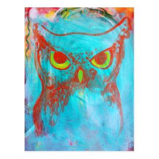 Guillo Perez 3 Owl Postcard