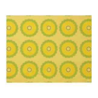 Guilloche Mesh Pattern yellows Wood Wall Art