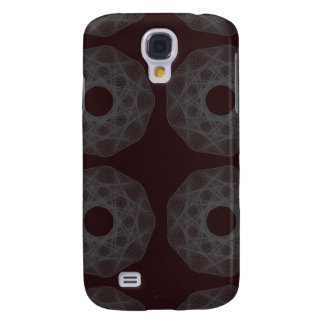 Guilloche Net pattern maroon Samsung Galaxy S4 Covers