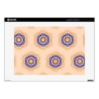 Guilloche Netted Patterns light orange Decals For Laptops