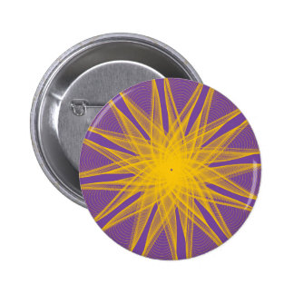 Guilloche Rings light purple yellow Pinback Buttons