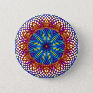 Guilloché Spirograph Motif Button