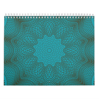 Guilloche Web brown teal Wall Calendars