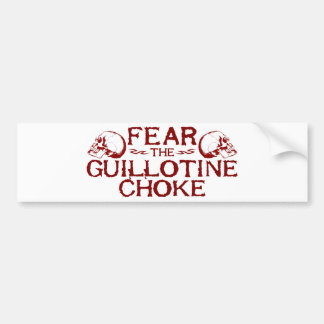 Guillotine Choke Bumper Sticker