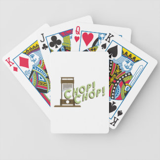 Guillotine Chop Bicycle Playing Cards