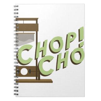 Guillotine Chop Notebook