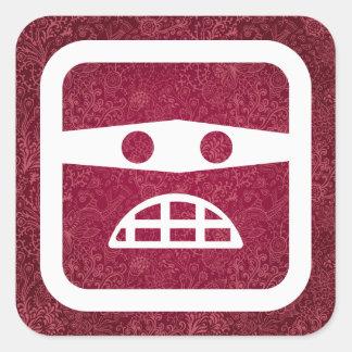 Guilt Emoticons Pictogram Square Sticker