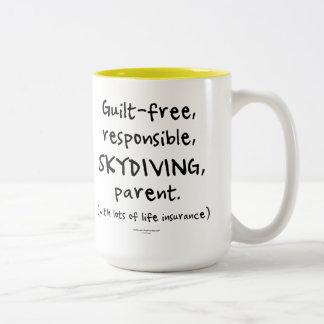 Guilt-free SKYDIVING Parent Two-Tone Coffee Mug