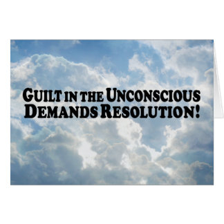 Guilt in the Unconscious - Basic Greeting Card