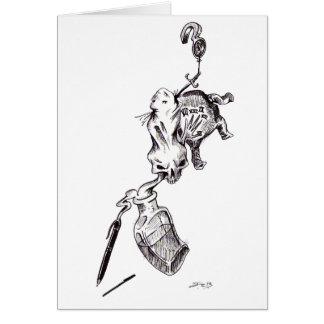 """Guilt"" - Pen & Ink by Jeremy Charles Barnhart Card"