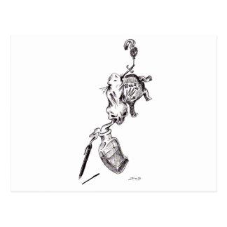 """""""Guilt"""" - Pen & Ink by Jeremy Charles Barnhart Postcard"""