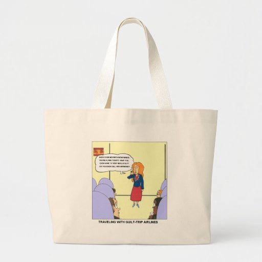 Guilt Trip Airlines Funny Carrtoon Gifts & Tees Tote Bag