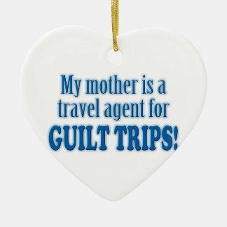 Guilt Trips Ceramic Ornament