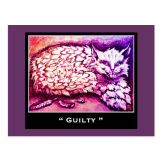 GUILTY CAT POSTCARD