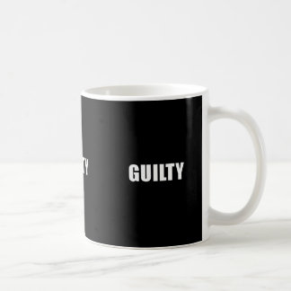 Guilty guilt feelings sad remorse comments express coffee mug