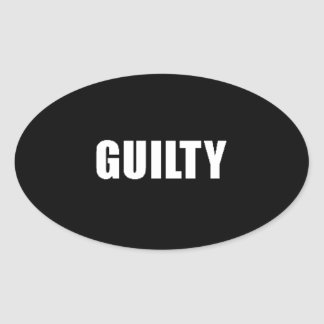 Guilty guilt feelings sad remorse comments express oval sticker