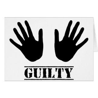 Guilty Hands Card