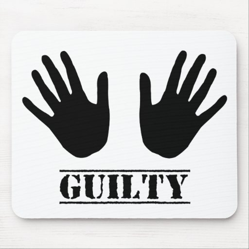 Guilty Hands Mouse Pads