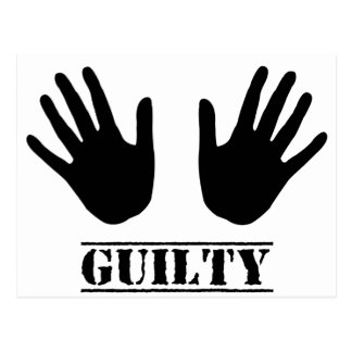 Guilty Hands Postcard