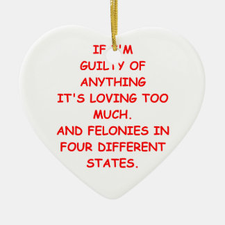 guilty christmas tree ornament