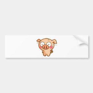 Guilty Piggy In Headlights Bumper Sticker